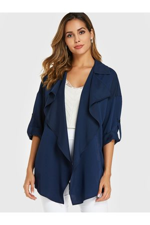 YOINS Large Lapel Adjustable Sleeves Trench Coat
