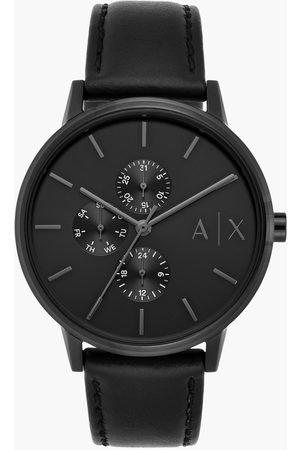 Armani Men Multifunction Watch with Leather Strap - AX2719