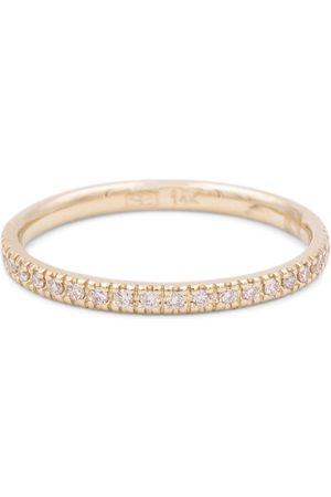 Sydney Evan 14kt yellow eternity ring with diamonds