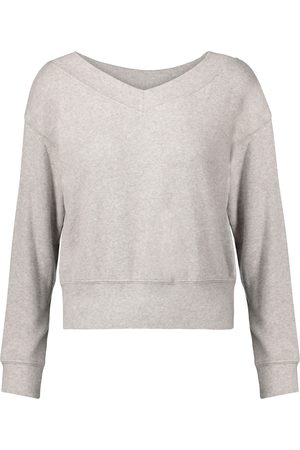 Velvet Sloe off-the-shoulder sweatshirt