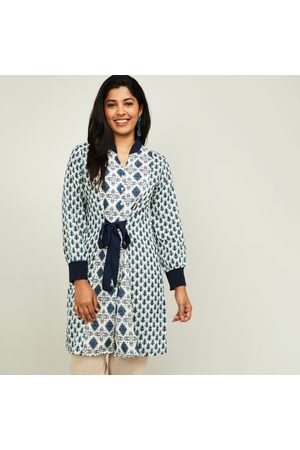 Global Desi Women Printed Three-quarter Sleeves Tunic