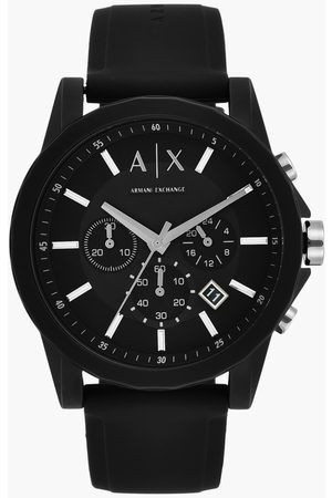 Armani Men Chronograph Watch with Silicone Strap - AX1326