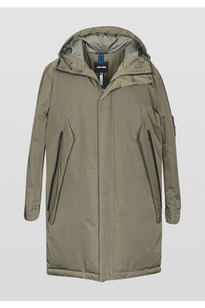 Antony Morato Long Hooded Panel Jacket Khaki Colour: Khaki
