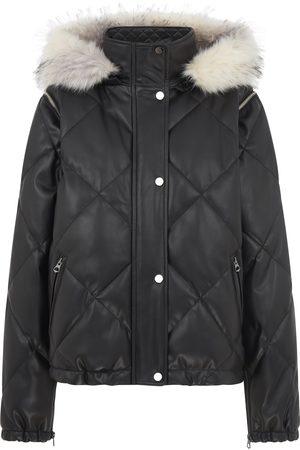 Urban Code Urban Code Quilted Short Jacket Detachable Sleeves and Fur Hood Khaki
