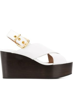 Marni WOMEN'S ZPMS004208P286200W01 LEATHER WEDGES