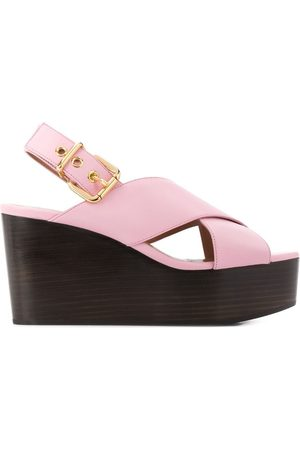 Marni WOMEN'S ZPMS004208P286200C20 LEATHER WEDGES