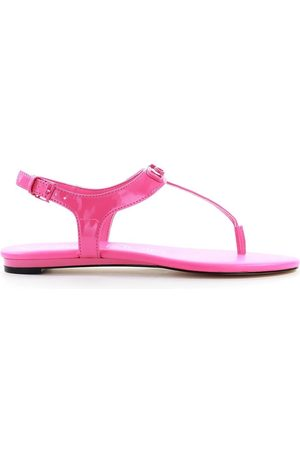 Calvin Klein WOMEN'S B4E7933670 FUCHSIA FAUX LEATHER SANDALS