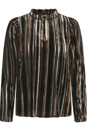 Part Two Women Shirts - Fuia Velvet Stripe Blouse