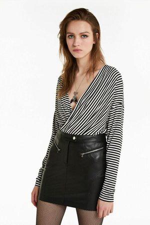 Patrizia Pepe Women Tops - 8M1075 Monochrome Stripe Top and white