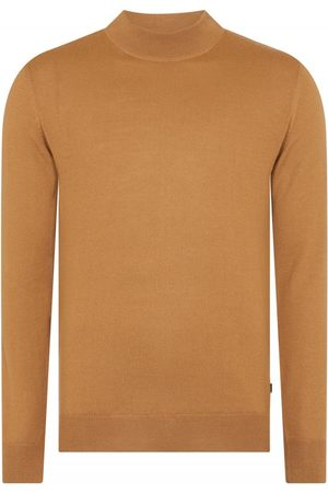 Remus Uomo Knited Turtle Neck Swearshirt Camel Colour: Camel