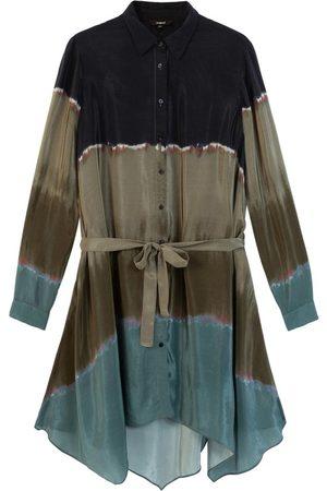 Desigual Tie Dye Shirt Dress - Granite
