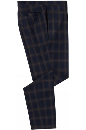 Remus Uomo Check Trouser Navy Colour: Navy