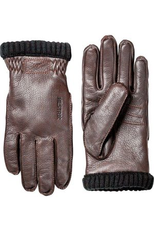 Hestra Deerskin Primaloft Rib Gloves - Dark
