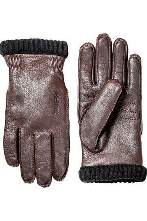 Hestra Men Gloves - Deerskin Primaloft Rib Gloves - Dark