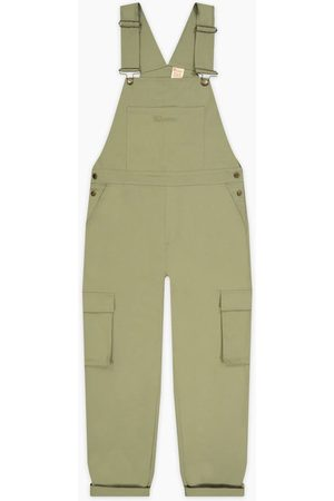 Champion Women Dungarees - Woven Utility Dungarees Olive