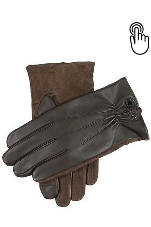 Dents Men Gloves - Brown Touchscreen Leather Gloves