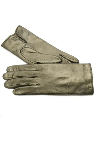 Gala Gloves Ladies metallic leather gloves w cash lining