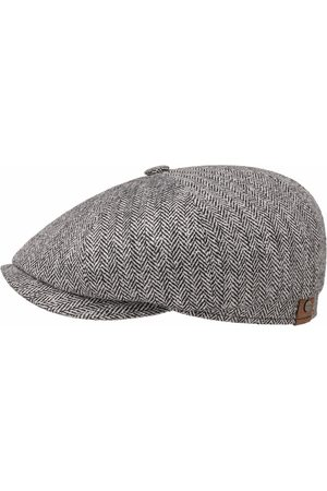 Stetson Men Caps - Hatteras Silk Flat Cap - Black/White