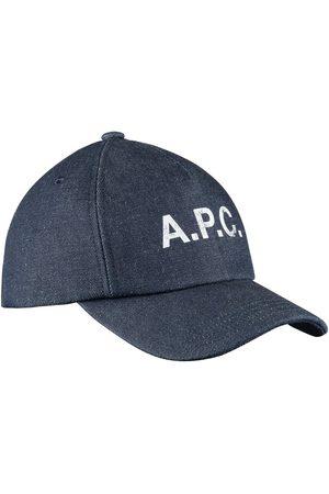 A.P.C. Men Caps - . Eden Cap - Indigo Denim
