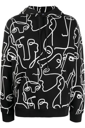 MARCELO BURLON ALL OVER FACES OVER HOODIE WHITE