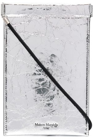 Maison Margiela Men Wallets - Metallic-finish phone pouch