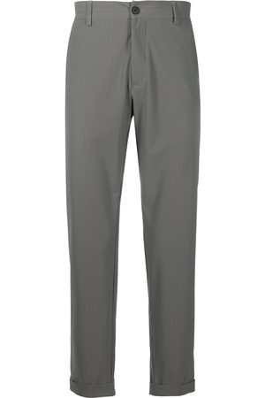 Hydrogen Turn-up hem herringbone trousers