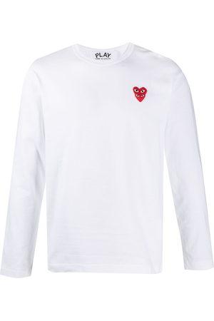 Comme des Garçons Heart-embroidered long-sleeve T-shirt