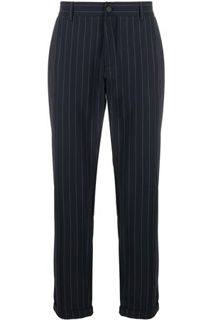 Hydrogen Ankle-crop pinstripe trousers