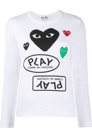 Comme des Garçons Heart patch logo jersey top