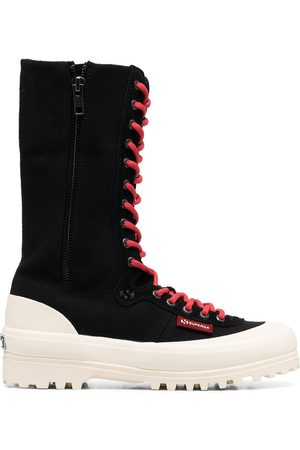 Superga Women Lace-up Boots - Lace-up ridged boots