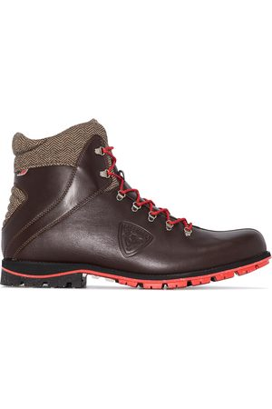 Rossignol Two-tone leather lace-up boots