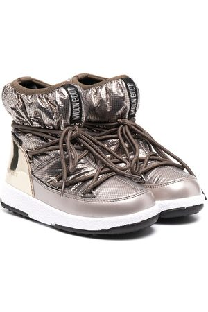 Moon Boot Metallic snow boots
