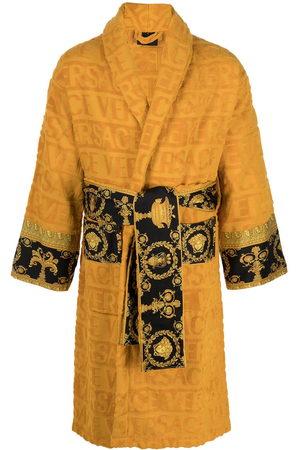 VERSACE Barocco-panel logo devoré robe