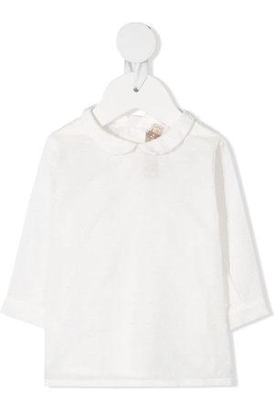 LA STUPENDERIA Shirts - Textured spot blouse