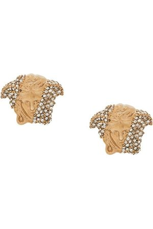 VERSACE Crystal-embellished Medusa stud earrings
