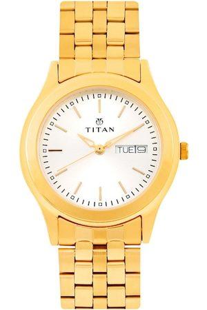 Titan Men White Dial Watch NH1648YM04