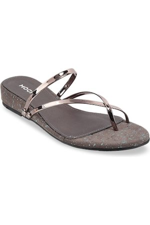 All Things Mochi Women Grey Solid Sandals