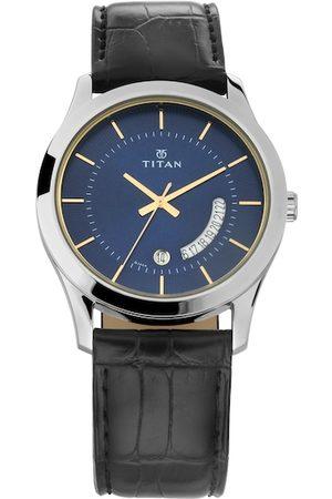 Titan Men Navy Blue Analogue Watch NM1823SL01