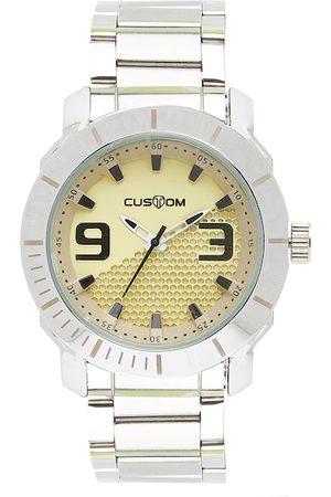 CUSTOM Men Yellow Analogue Watch 8907829043039