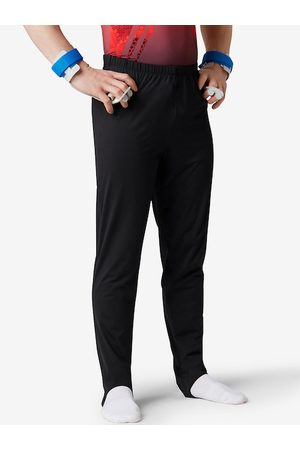 Domyos By Decathlon Men Black Slim Fit Solid Chinos