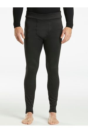 WEDZE By Decathlon Men Black Classic Skinny Fit Solid Ski Base Layer Trousers