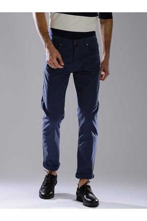 GANT Men Blue Regular Fit Solid Chinos