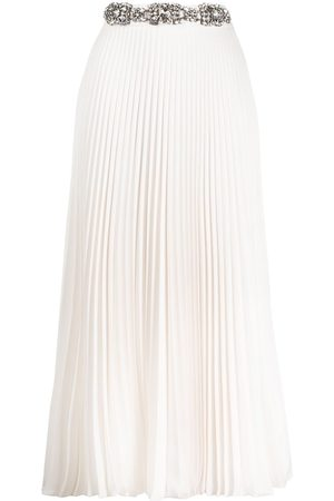 Christopher Kane Crystal-embellished pleated skirt