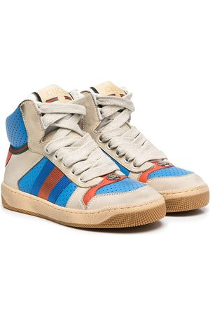 Gucci Boys Sneakers - High-top leather sneakers
