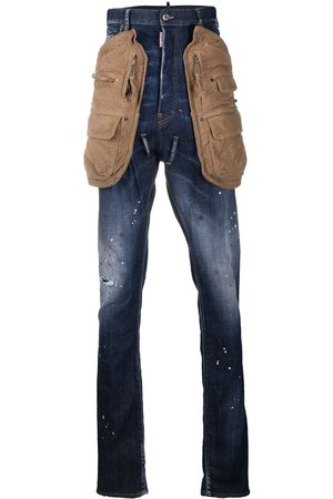 Dsquared2 High-rise stonewashed straight-leg jeans