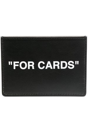 OFF-WHITE CALF SKIN QUOTE CARDHOLDER WHITE