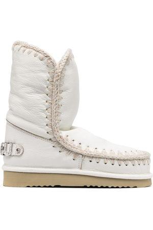 Mou Embellished logo snow boots
