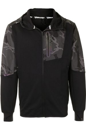 AAPE BY A BATHING APE Men Sports Jackets - Camouflage-panel zip-up jacket