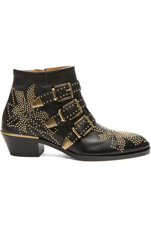 Chloé Susanna Leather Studded Booties in &