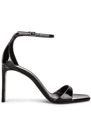 Saint Laurent Bea Sandals in Noir